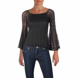 NWT Band of Gypsies Black Off the Shoulder Top